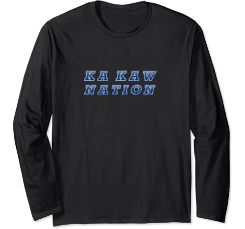 Blue And Grey St Louis Ka Kaw Nation By Life Is A Ball Long Sleeve T Shirt
