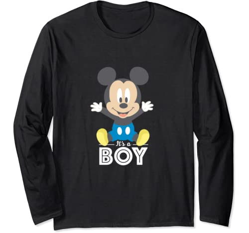 Disney Mickey Mouse It's A Boy Baby Shower Long Sleeve T Shirt