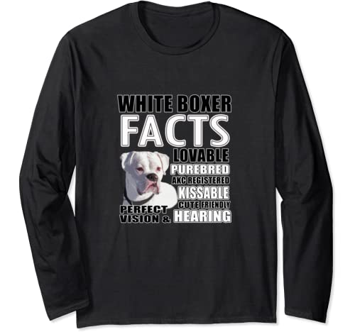 Facts White Boxer Dogs Long Sleeve T Shirt