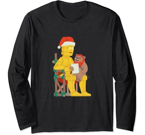 Star Wars Holiday Santa C 3 Po & Ewok Long Sleeve T Shirt