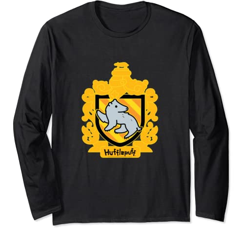 Harry Potter Chibi Hufflepuff Crest Long Sleeve T Shirt