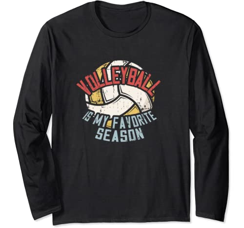 Vintage Volleyball Lovers   Volleyball Is My Favorite Season Long Sleeve T Shirt