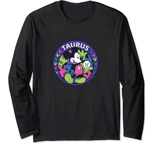 Disney Mickey Mouse Zodiac Taurus Long Sleeve T Shirt