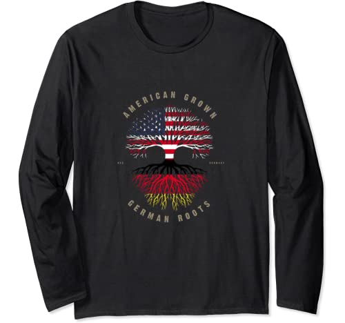 American Grown German Roots Germany Flag Deutschland Long Sleeve T Shirt