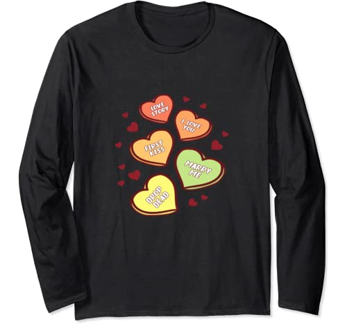 Heart Cute Funny Valentine's Day Girl Kid Long Sleeve T Shirt