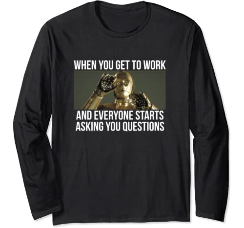 Star Wars C 3 Po Everyone Stars Asking Questions Long Sleeve T Shirt