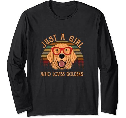 Golden Retriever Shirt Gifts For Girls Just Who Love T Shirt Long Sleeve T Shirt