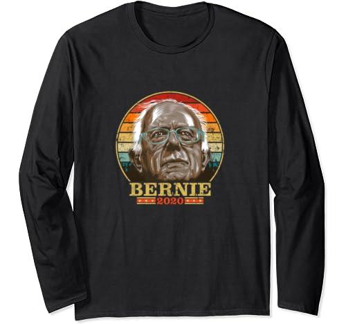 Bernie 2020   Bernie Sanders Retro Vintage Distressed Colors Long Sleeve T Shirt