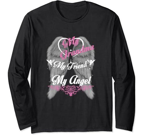Love Miss My Grandma Tshirt In Memorial Of Grandma In Heaven Long Sleeve T Shirt