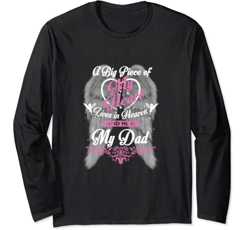 Gift For My Dad Is My Guardian Angel He Watches Over My Back Long Sleeve T Shirt
