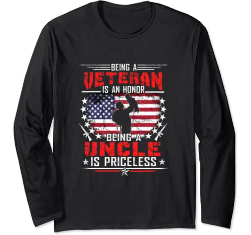 Mens Veteran Uncle Shirt, Gift For Uncle Long Sleeve T Shirt