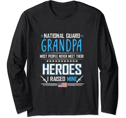National Guard Grandpa Shirt Army Heroes Gifts Military Long Sleeve T Shirt