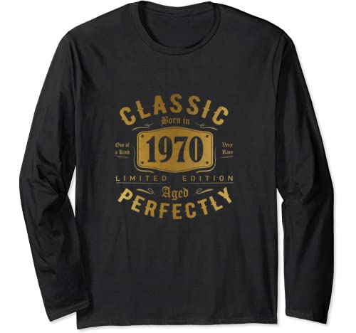 Classic 50th Birthday Gift For Men Women Vintage 1970 Long Sleeve T Shirt