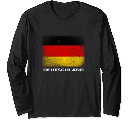 Vintage Germany Long Sleeve T Shirt German Flag Deutschland