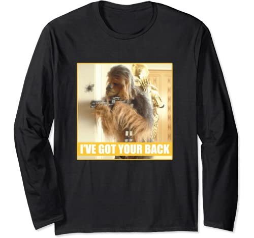Star Wars Chewie & C 3 Po I've Got Your Back Poster Long Sleeve T Shirt