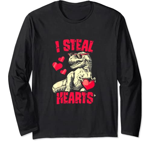 I Steal Hearts Funny Valentines Day Long Sleeve T Shirt