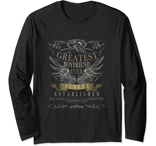 Vintage Retro Greatest Boyfriends Valentines Day Ever Long Sleeve T Shirt