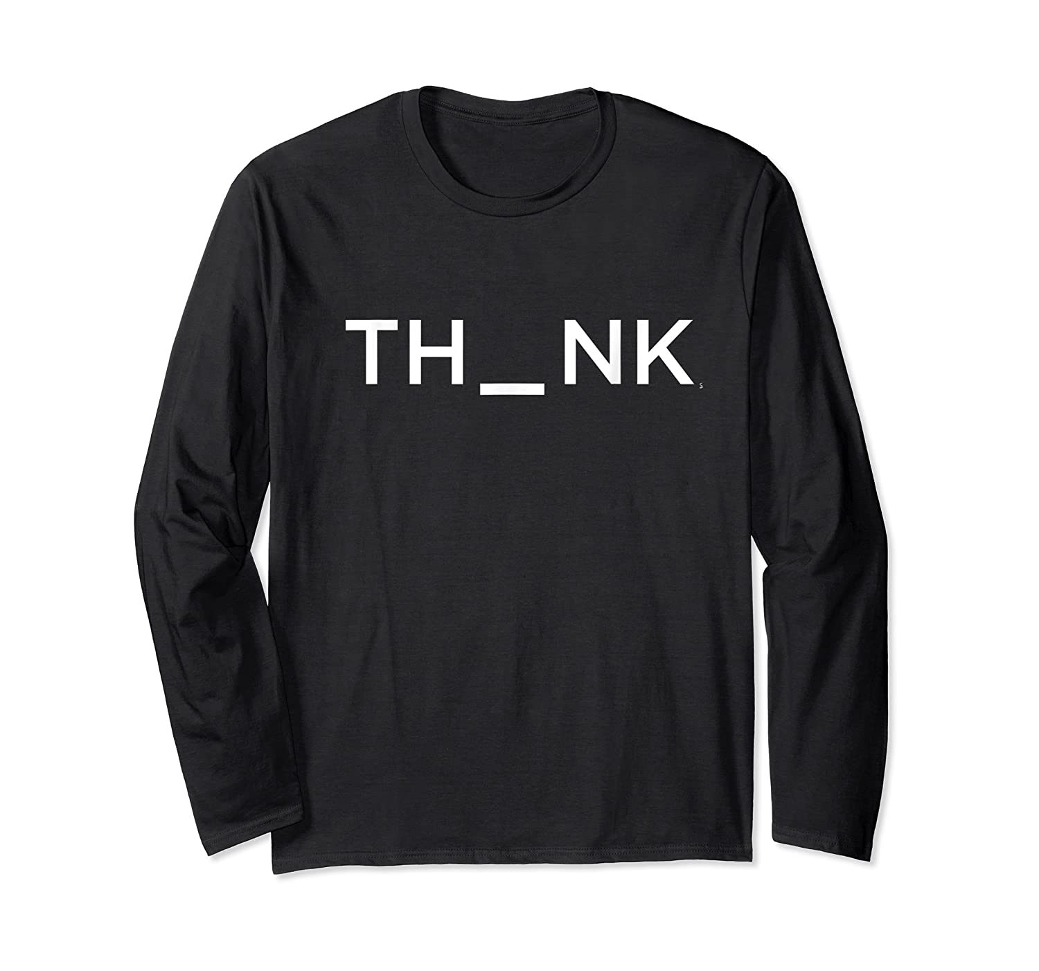Think Mind Puzzle Decode Typographic Gift T Shirt Long Sleeve T-shirt