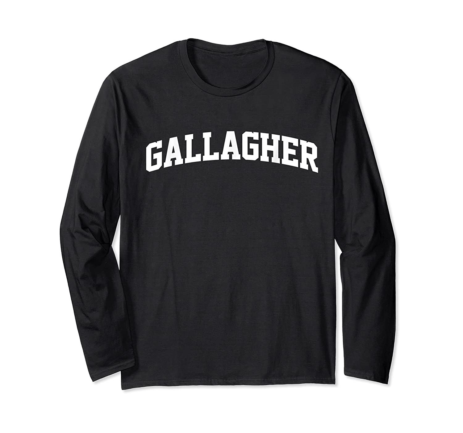 Gallagher Name First Last Retro Sports Arch T Shirt Long Sleeve T-shirt