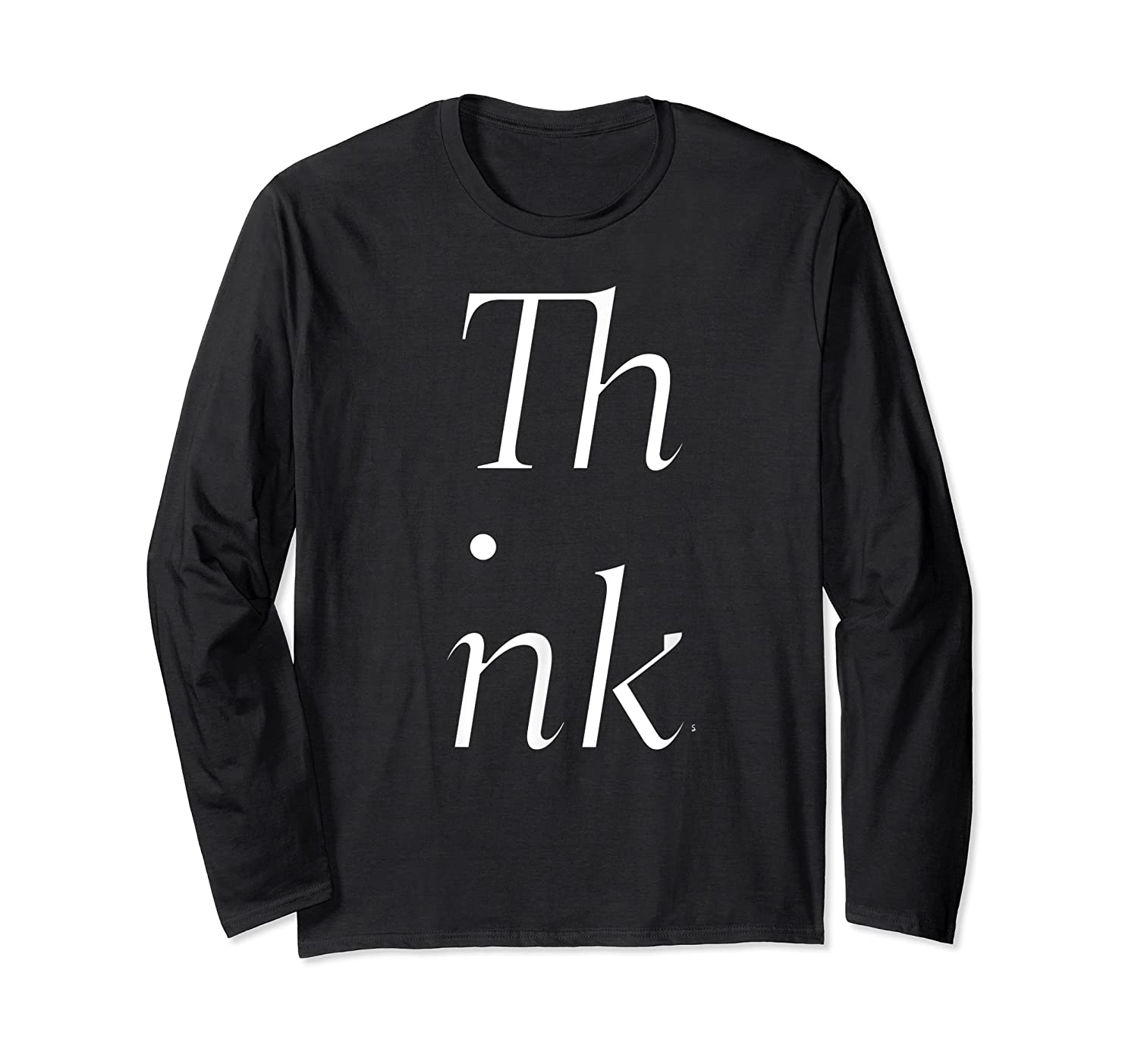 Think Stacked Puzzle Decode Typographic Gift T Shirt Long Sleeve T-shirt