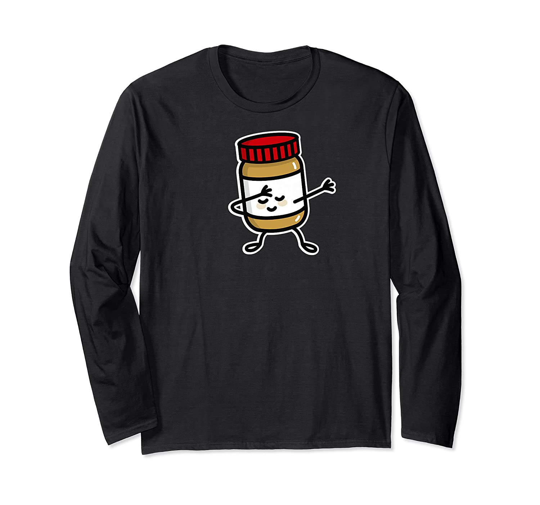 Dab Dabbing Peanut Butter Jar Funny Jelly Spreads Premium T Shirt Long Sleeve T-shirt