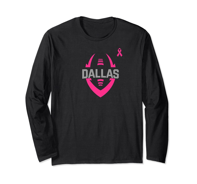 Dallas Football Breast Cancer Awareness T Shirt Long Sleeve T-shirt