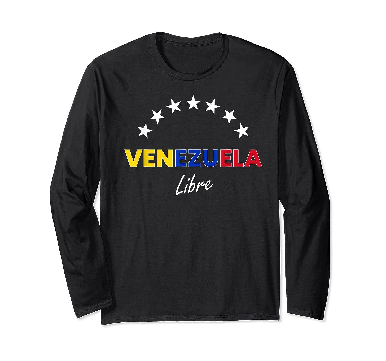 Venezuela Libre, Venezuelan National Flag T-shirt Long Sleeve T-shirt