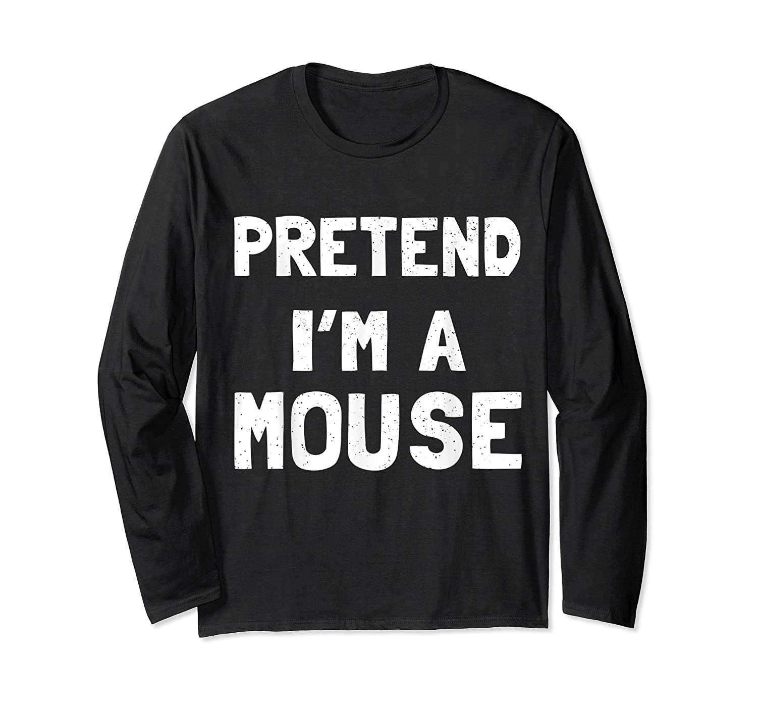 Mouse Halloween Costume Funny Gift Shirts Long Sleeve T-shirt