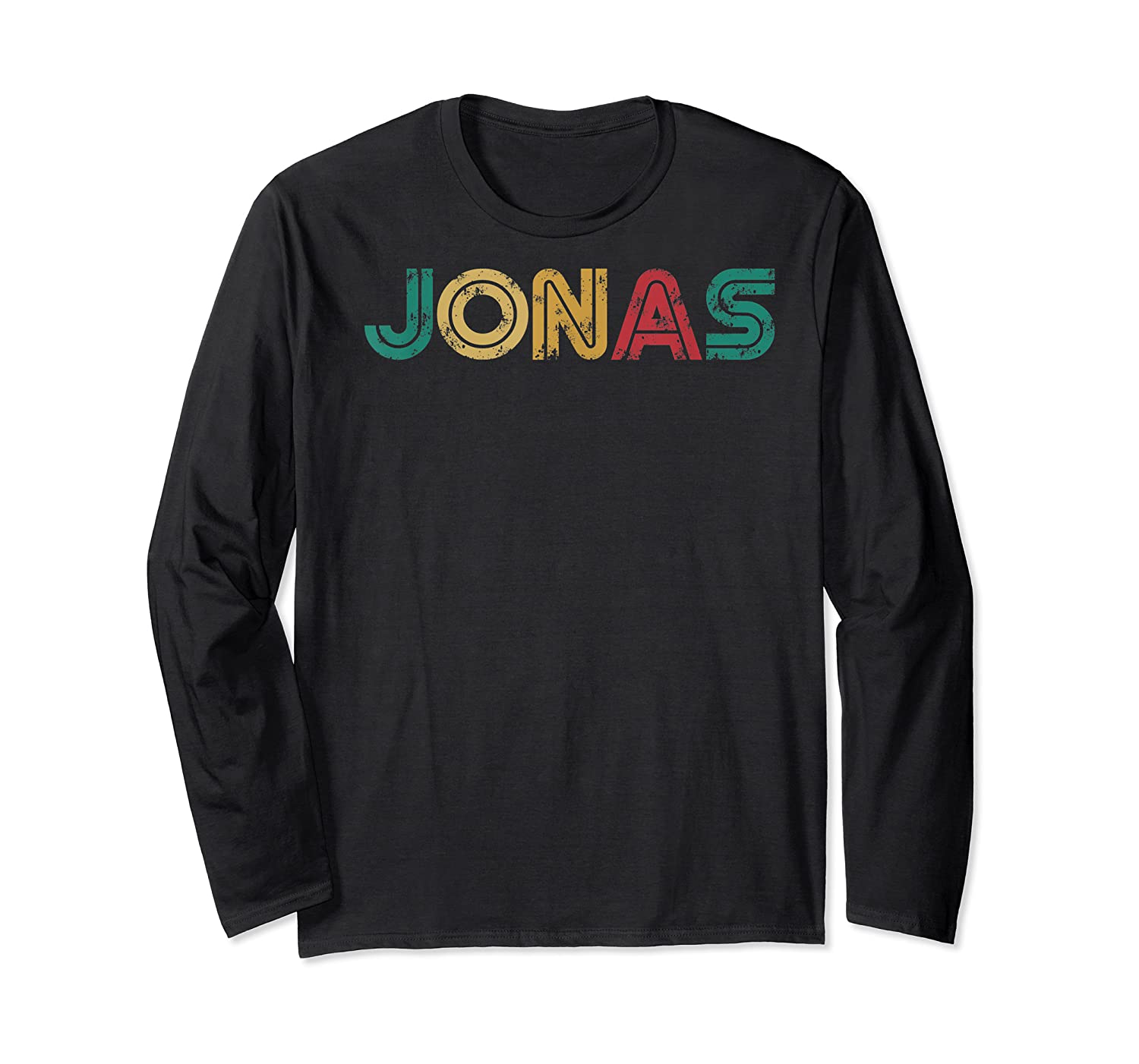 Jonas First Given Name Pride Vintage Distressed T Shirt Long Sleeve T-shirt