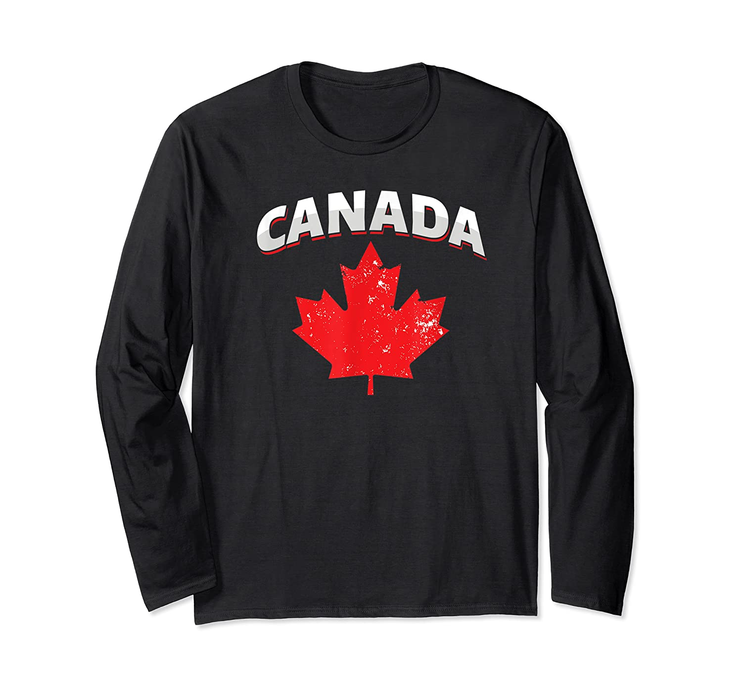 Toronto Vancouver Patriotic Canadian Canada Maple Leaf Shirts Long Sleeve T-shirt