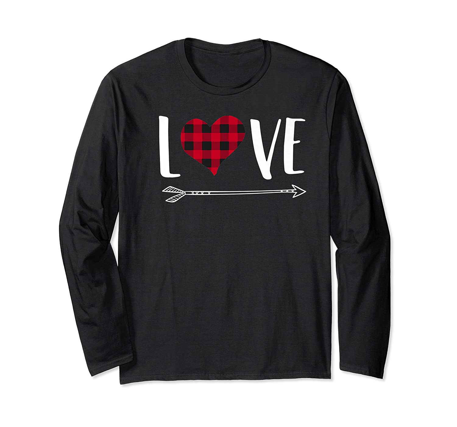Love Heart Arrow T Shirt Best Gift For Valentines Day Long Sleeve T-shirt