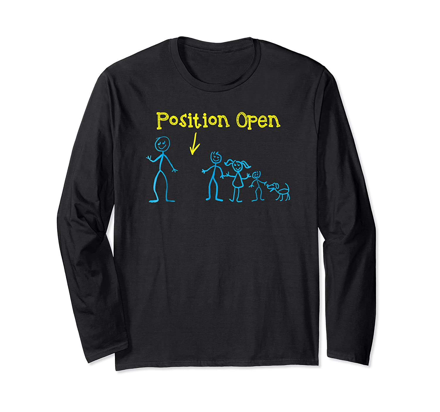 S Funny Single Dad T Shirt Position Open By Zany Brainy Long Sleeve T-shirt