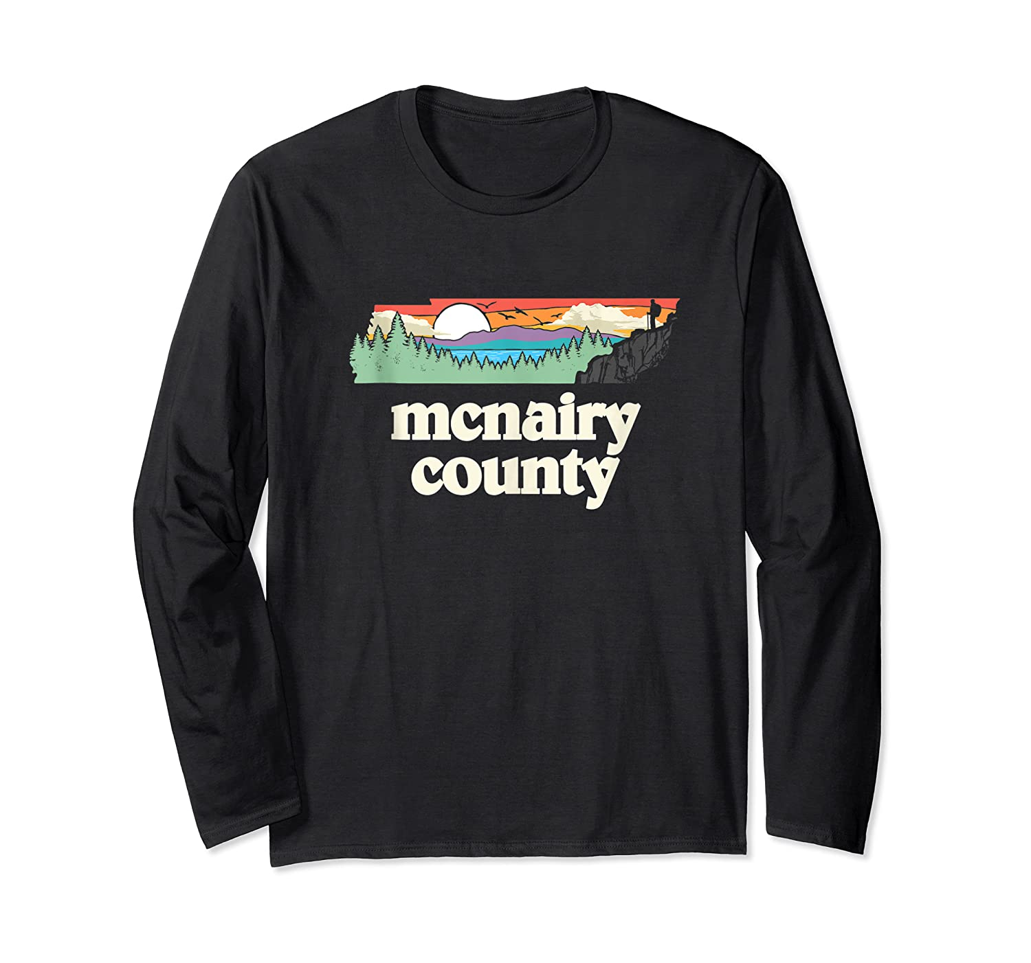 Mcnairy County Tennessee Outdoors Retro Nature Graphic Tank Top Shirts Long Sleeve T-shirt