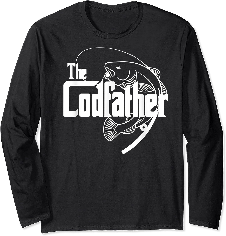 S Codfather Cod Fishing Fisherman Angler Novelty Humor Gifts T-shirt Long Sleeve T-shirt