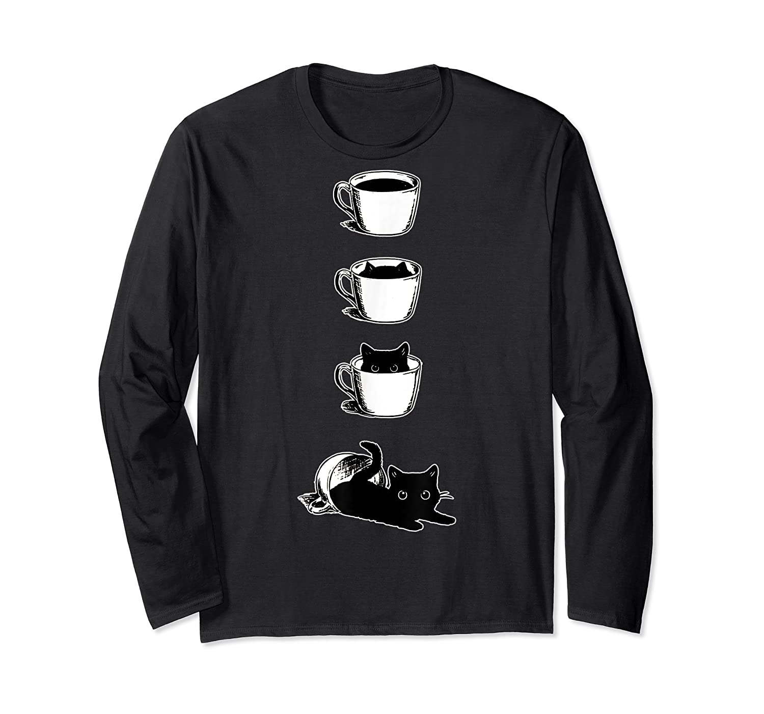 Cat In The Cup Funny Cat Lover Gifts Shirts Long Sleeve T-shirt