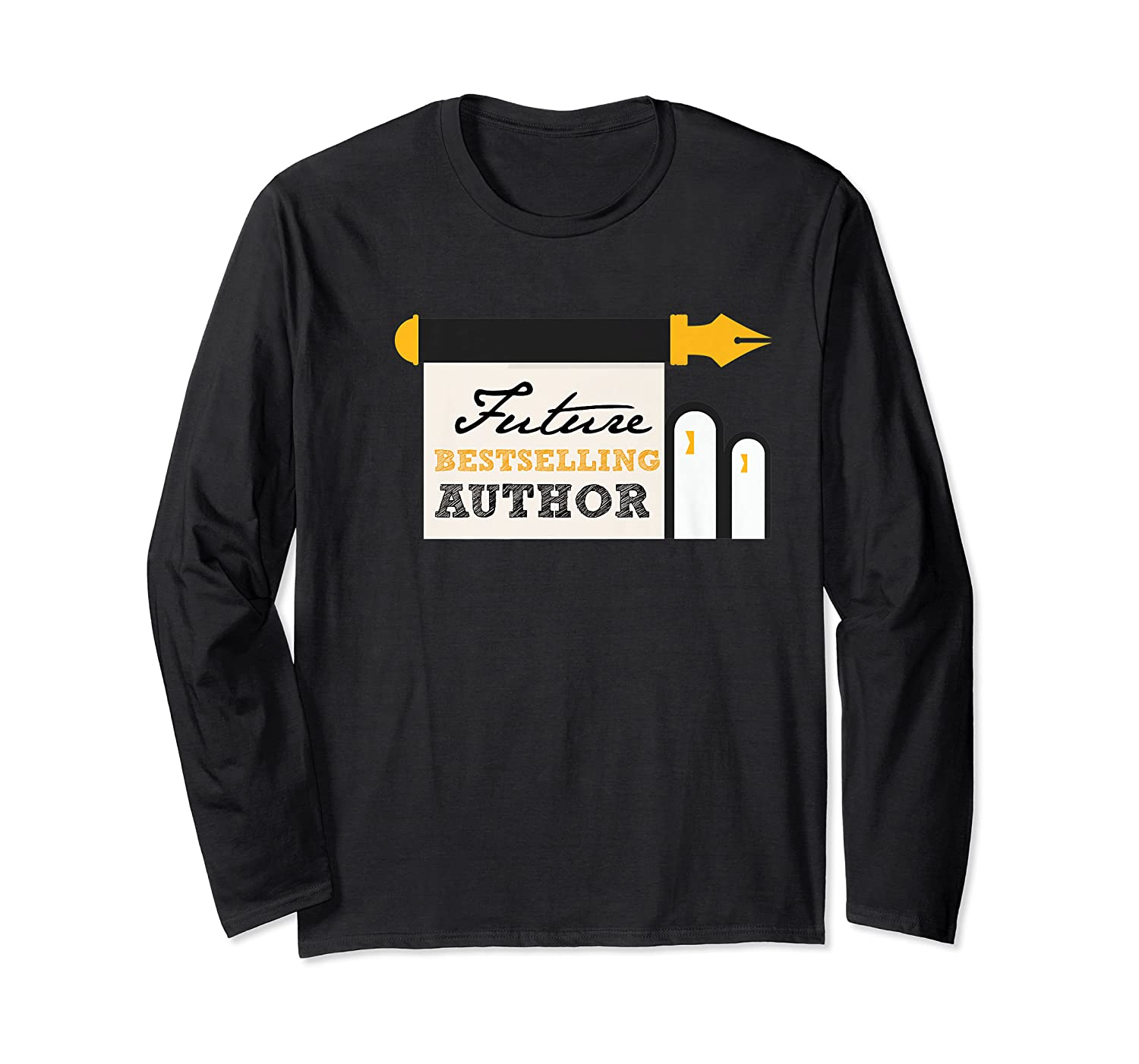 Funny Future Best Selling Author Writer Librarian Book Gift Premium T Shirt Long Sleeve T-shirt