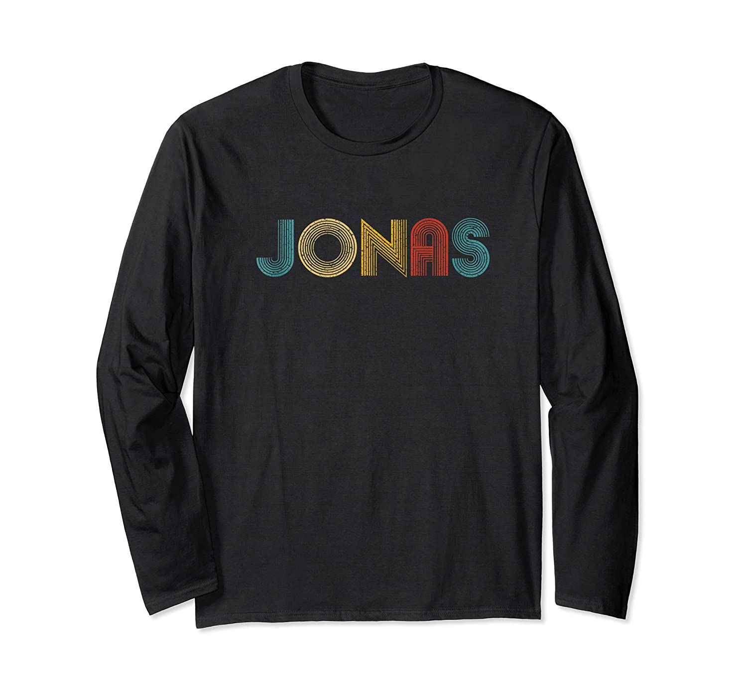 Jonas First Given Name Pride Vintage Distressed Tank Top Shirts Long Sleeve T-shirt