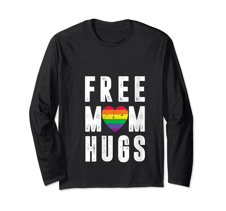 Lgbt X Pride - Cute Mother Distressed Lgbt Free Mom Hugs T-shirt Long Sleeve T-shirt