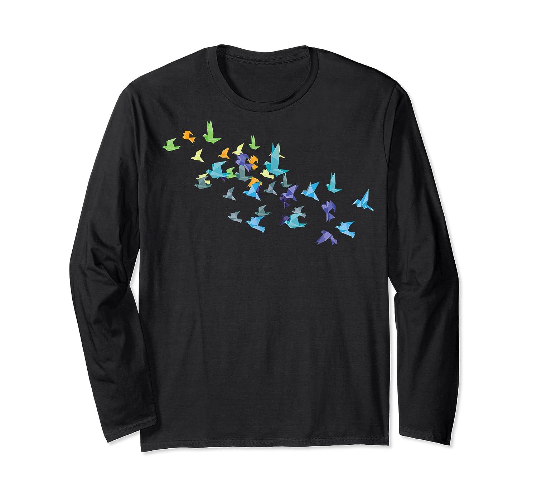 Origami Paper Cranes Japanese Culture Bird Lovers Gift T Shirt Long Sleeve T-shirt