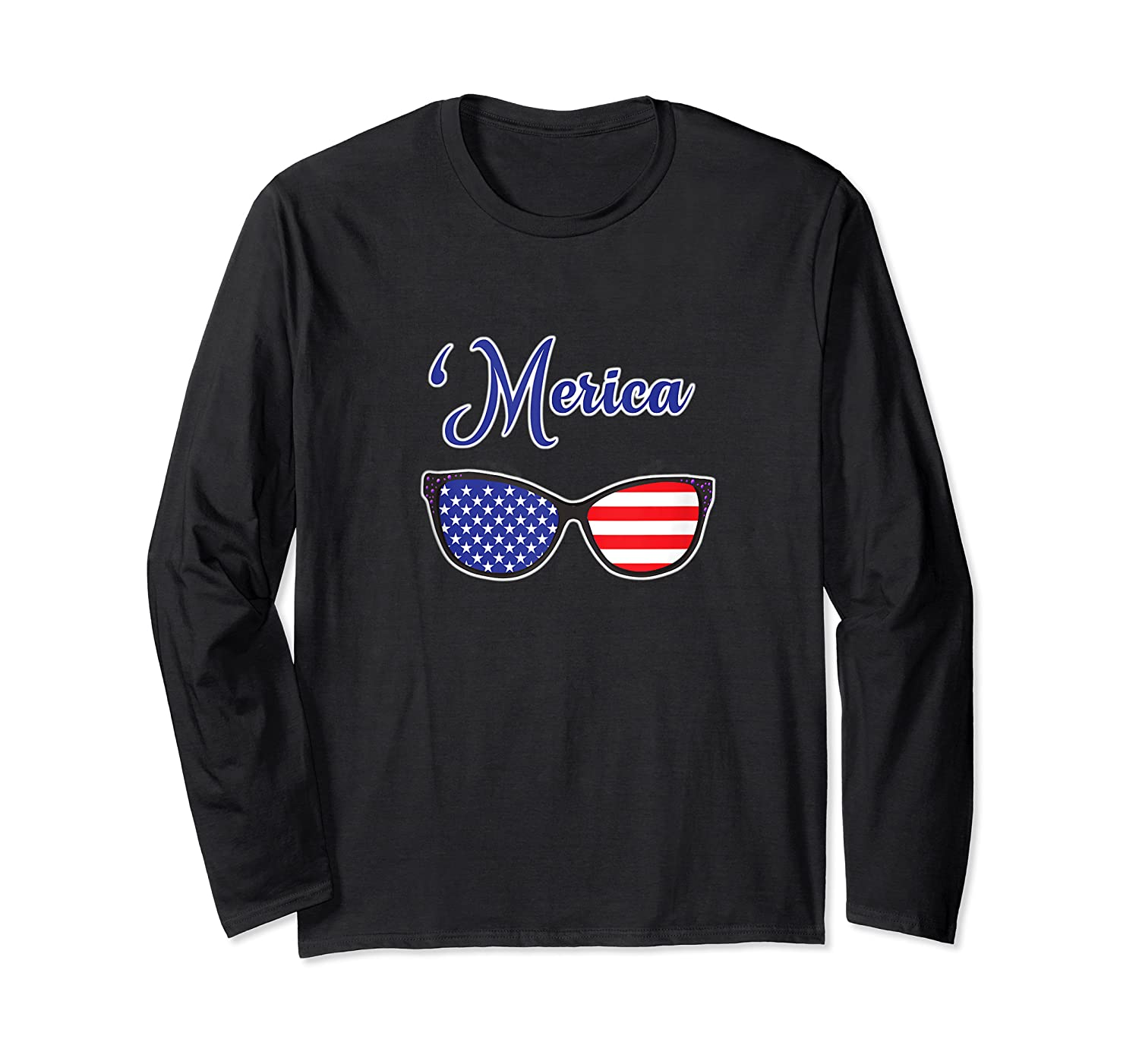 Merica Patriotic Memorial Day July 4th And Election Tank Top Shirts Long Sleeve T-shirt