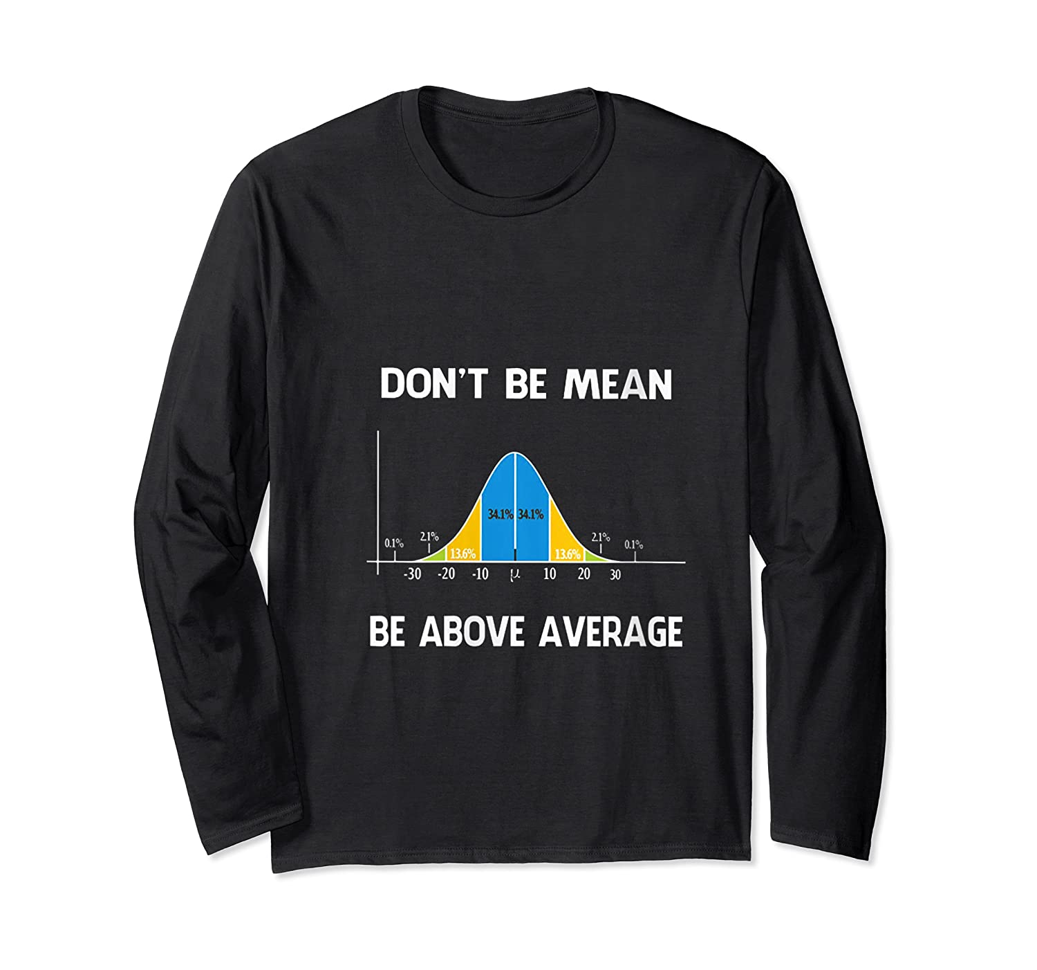 Don T Be Mean Be Above Average Funny Math Lover Gift T Shirt Long Sleeve T-shirt