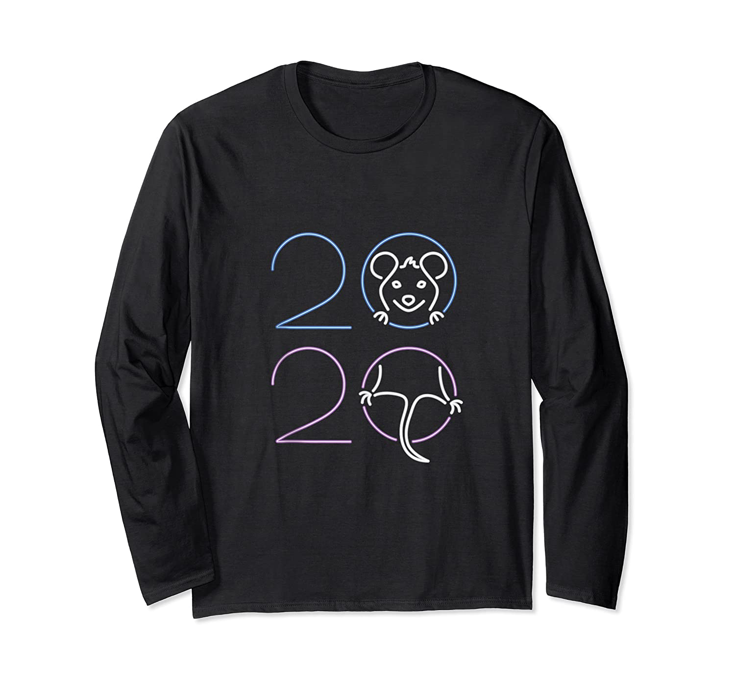 2020 Year Of The Rat Chinese Zodiac Lunar Happy New Year Shirts Long Sleeve T-shirt