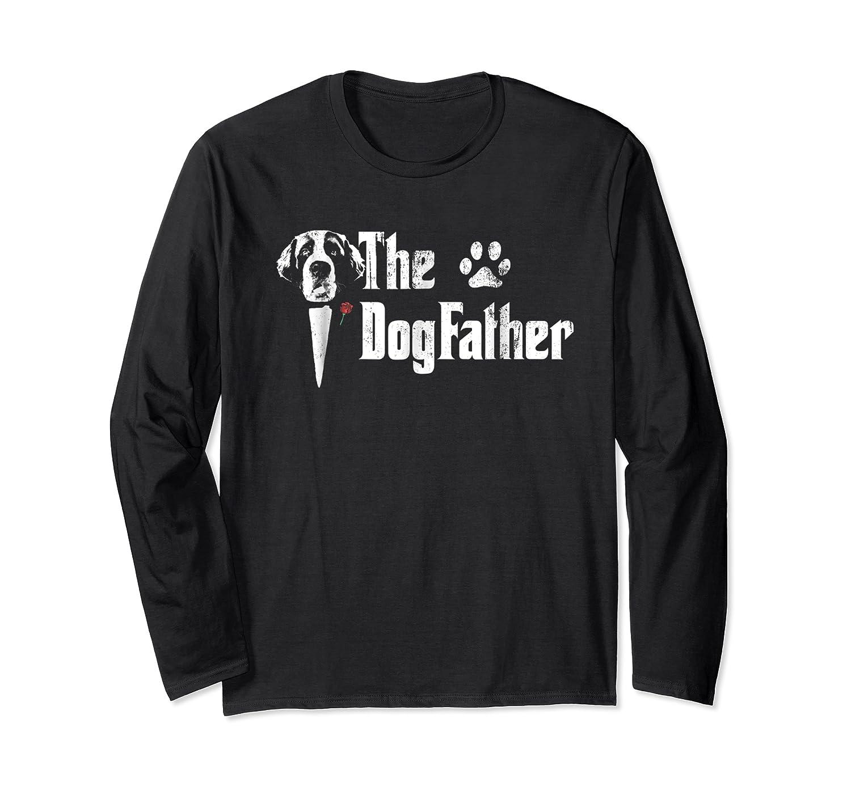 S The Dogfather Saint Bernard Dog Dad Tshirt Father S Day Gif Long Sleeve T-shirt