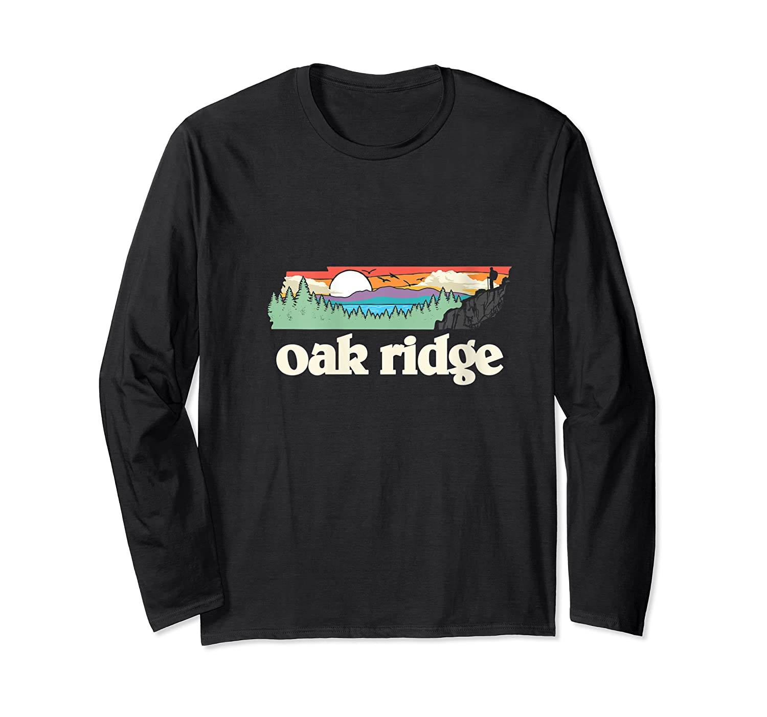 Oakland Tennessee Outdoors Retro Nature Graphic T-shirt Long Sleeve T-shirt