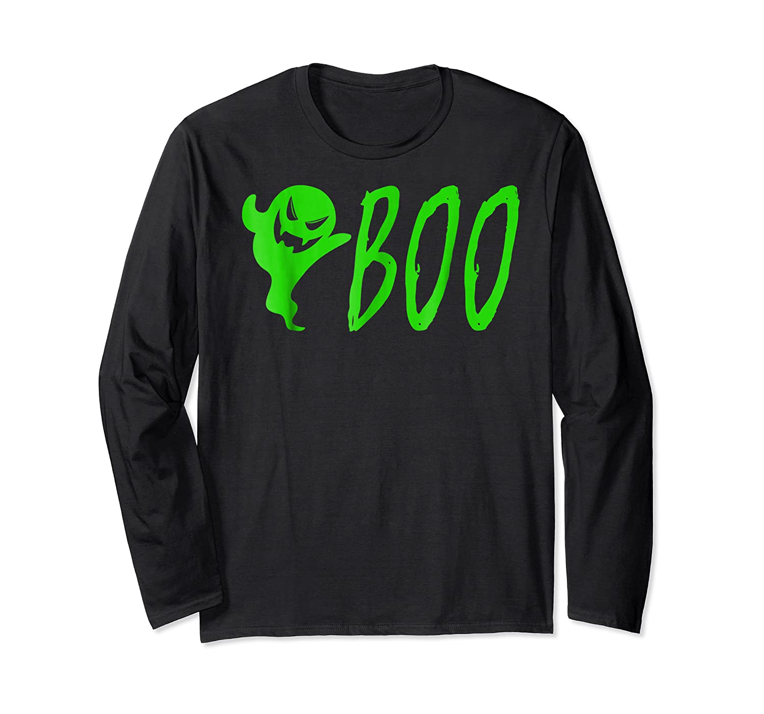 Funny Spooky Ghost Halloween Holiday Trick Or Treat Shirts Long Sleeve T-shirt