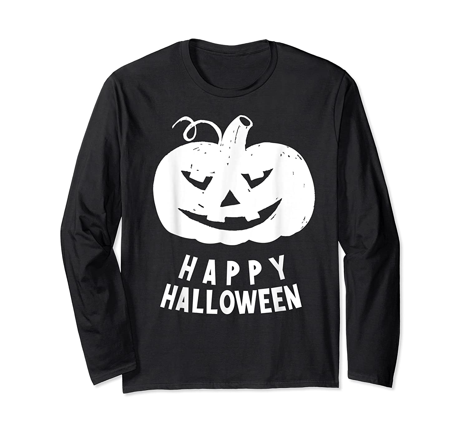 Funny Happy Halloween Costumes Scary Spooky Pumpkin Costume Shirts Long Sleeve T-shirt
