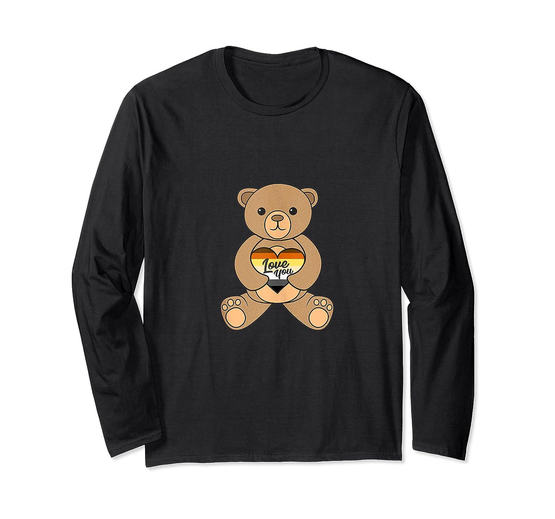 Bear Brotherhood Love You Cuddly Bear Holding A Love Heart Shirts Long Sleeve T-shirt