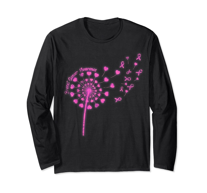 Dandelion Breast Cancer Awareness T Shirt Long Sleeve T-shirt