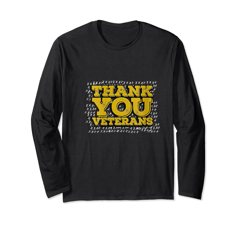 Thank You Veterans American Army Veterans Day Gift T Shirt Long Sleeve T-shirt