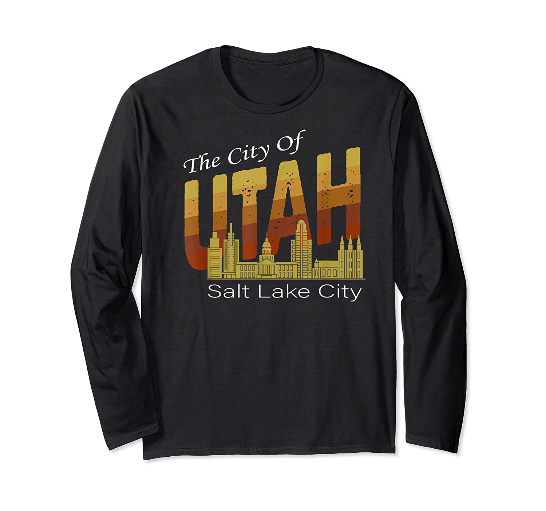 City Of Utah Shirt Salt Lake City Vintage State Gift T Shirt Long Sleeve T-shirt